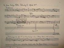 ヒンデミット自筆による楽譜