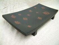 【漆絵】俎板皿 鎌倉彫|鎌倉漆工房いいざさ
