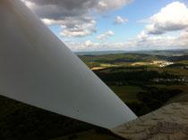 Proseil Industriekletterer an einer Windkraftanlage im Hunsrück
