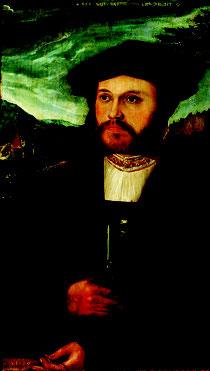 Michael Ostendorfer, Bildnis eines 26-jährigen Mannes (Detail), 1533. Museen der Stadt Regensburg