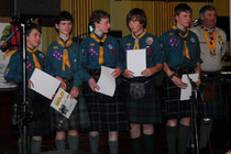 Gold Scout Award achievers