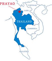 パヤオ地図,荒川沖,タイレストランパヤオ,phayao,thai