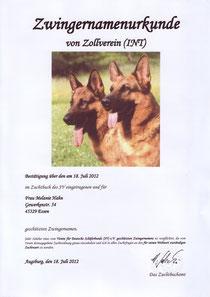 Zwingernamenurkunde (INT)