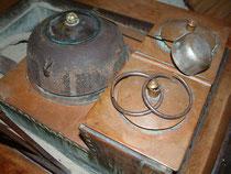 長火鉢と銅壺