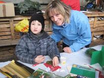 Katja Adrian mit Sohn Louis