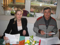 Rechtsanwältin Frau Schröder und Vereinsvorsitzender Gerhard Bauer
