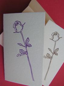 バラのイラスト2つ折りカード