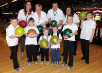 The winning team raising £307