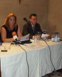 Secretaria General del PDSA, Gemma Gerez y el Secretario Provincial de Cádiz, Joaquin Manuel Moguer