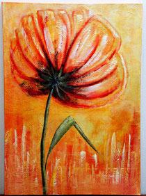 Blüte von hinten, 70 x 50 cm