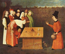 L'escamoteur - Jérôme Bosch - XVème siècle