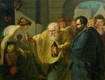 Diogène cherche un homme, Johann Heinrich Wilhelm Tischbein, XVIIIème siècle