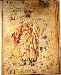 Portrait de Jâbir ibn Hayyân, XVème siècle.