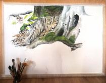 in Arbeit: Aquarell in den Maßen 70 x 100 cm