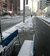 【バス停辺り】