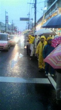 雨にも関わらず70人が参加。5歳の娘も頑張りました。