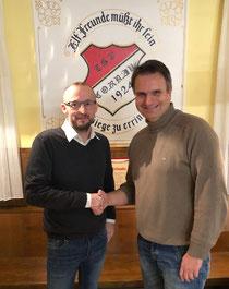Sieger Andreas Stegemann mit dem 1. Vorsitzenden Marco Husmann (v.R.)