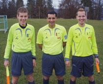 Leonardo Mimmo mit Florian Guth und Bastian Wiedemann