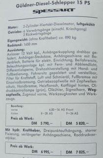 Preisliste Güldner Spessart A2KS