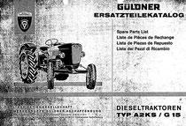 Ersatzteilekatalog Güldner Spessart  A2KS / G15