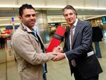 Heinz Kost traf Uli Forte auf dem Flughafen