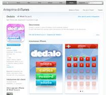 Dedalo als App fürs iPhone im iTunes-Store erhältlich