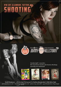 pin-up, glamour-, tattoo-shooting by johnnyhellstorm.com
