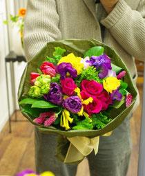 使うお花は当日のお楽しみです