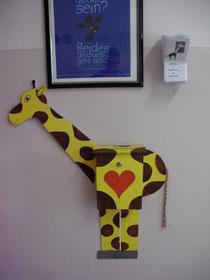 Der Giraffenbriefkasten.