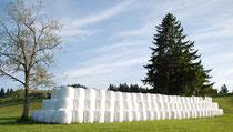 Siloballenlager vom Sommer 2013