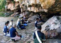 経典編纂の為の第一次結集が行われたラジギール七葉窟