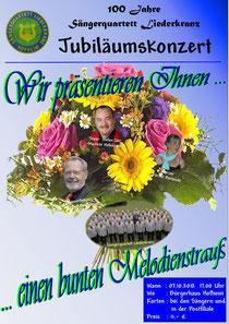Werbeplakat für das Jubiläumskonzert
