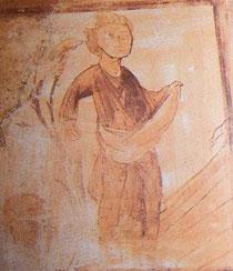 """""""Octobre"""", fresque de l'église de Pouligny-Notre-Dame"""