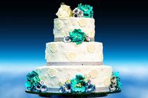 Hochzeitstorte, Hochzeitsfarbe, Süßes für die Hochzeitsfeier