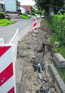 Aus Stolberger Sicht liegt Simmerath zwar hinter Zweifall, aber in der Eifel-Kommune wurde bereits im vergangenen Jahr Breitband verlegt, wie hier in Hechelscheidt.