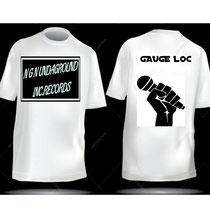 GET YOUR NGN UNDAGROUND INC. RECORDS T-SHIRT WITH YOUR NAME ON THE BACK. $12.99 plus shipping & handling.
