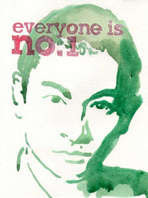 Everyone is no.1 (Andy Law) 24x18cm mixed media on hand made paper 2011