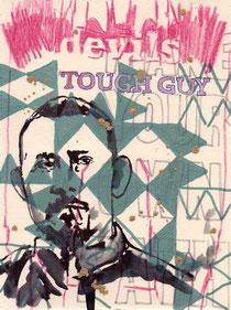 Tough guy (Jian Wen) 24x18cm mixed media on hand made paper 2011