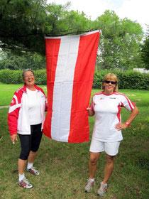 Elisabeth und Sabina waren im Hammer – und  Gewichtwurf im Einsatz.