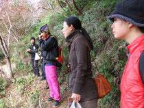 網掛山での一行。