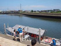 和船に乗船しました。
