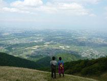 入道ヶ岳頂上からの景色