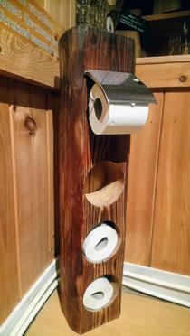 Toiletten Butler aus Altholz, selbststehend