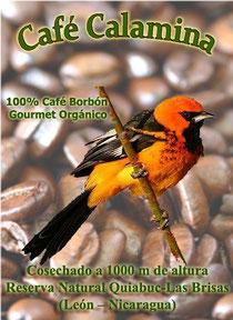 """Etiquette du paquet de """"Café Calamina"""""""