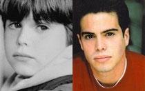 Ross Malinger avant et maintenant.