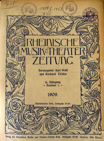 Vorblatt der Rheinischen Musik- und Theaterzeitung, Musikwissenschaftliches Institut der Universität Köln