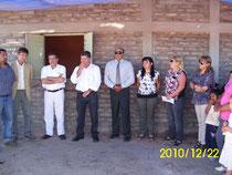 El Gobernador y funcionarios locales