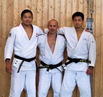 v.l.n.r.: Akinori Hongo, Denis Weisser, Shunichi Saito