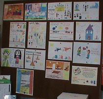 Les dessins du concours exposés