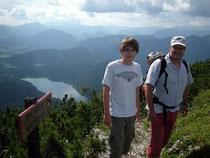 Auf der Gemeindealpe (unten der Erlaufsee)